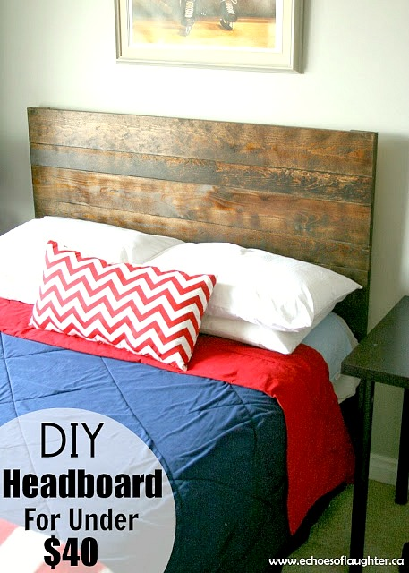 $40 DIY Headboard from Monday Funday! #diyproject #linkparty #linkpartyfeature #mondayfundayparty