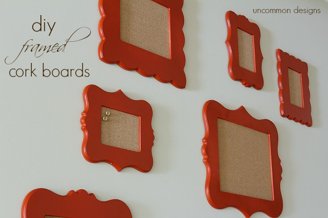 DIY Framed Cork Boards. #cutitout #unfinishedframes #homedecor #organizing #photos