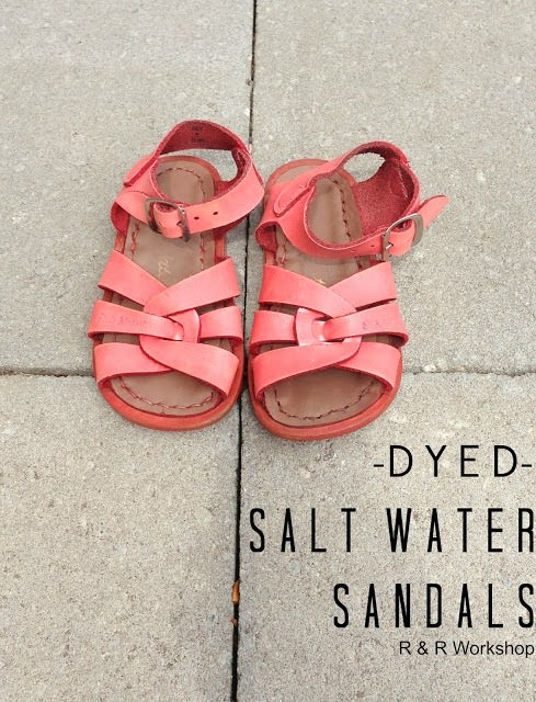 dyed sandals