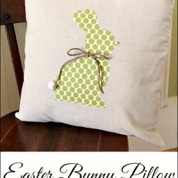 No Sew Easter Bunny Pillow … Swing Into Spring Craft Link Party