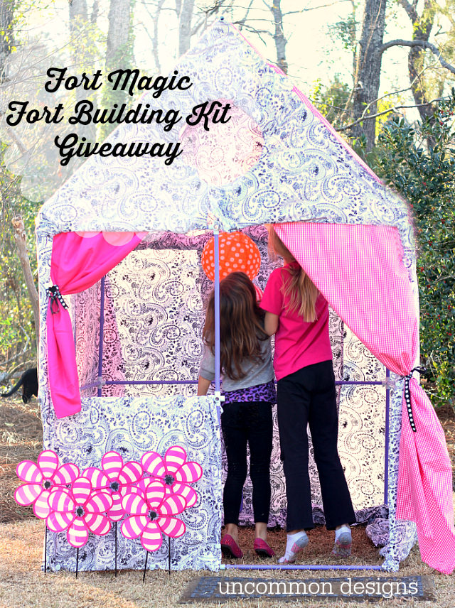 Fort Magic Fort Building Kit Giveaway www.uncommondesignsonline.com