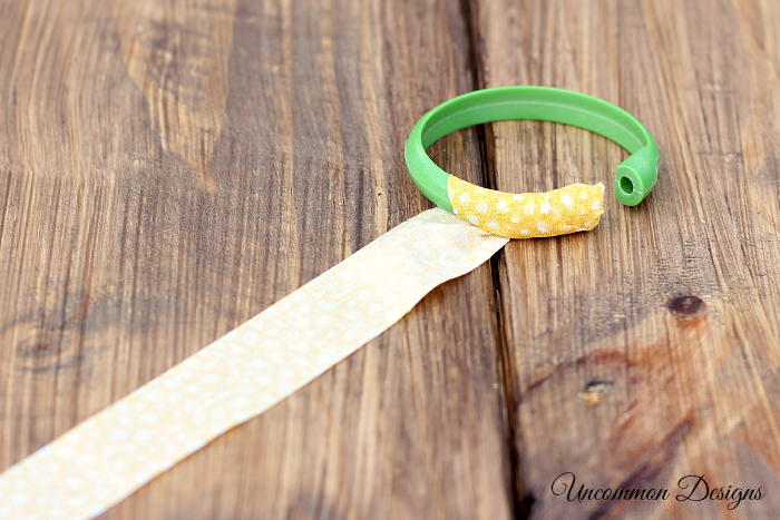 Make Bangle Bracelets from Shower Curtain Rings and Fabric Tape #DuckCraftTape