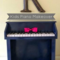 Kids Piano Makeover via www.uncommondesignsonline.com