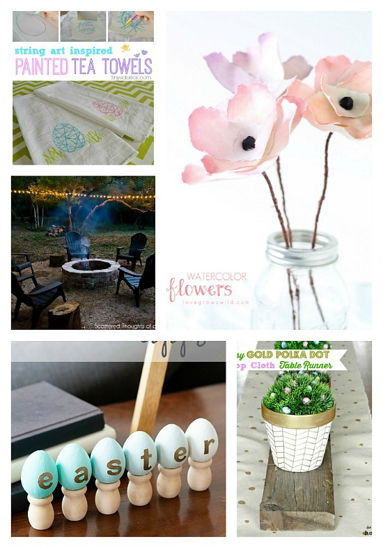 10 Ideas to add Spring to your home from the Monday Funday link party! #linkparty #linkpartyfeatures #spring #homedecor