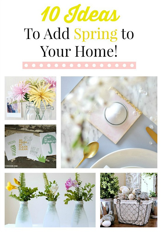 10 Spring Ideas for your Home from Monday Funday via www.uncommondesignsonline.com