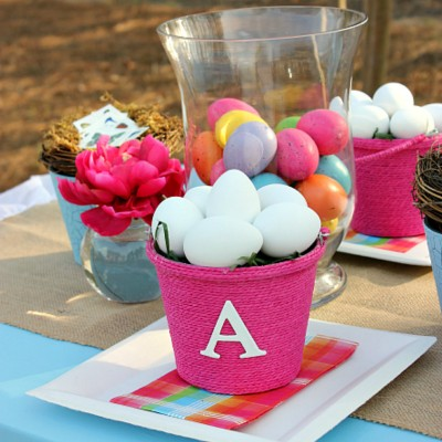 DIY Monogrammed Easter Baskets