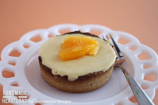 Mango Citrus Cream Tart with a Toasted Almond Crust. A delicious dessert! #mango #dessert #tart #almonds