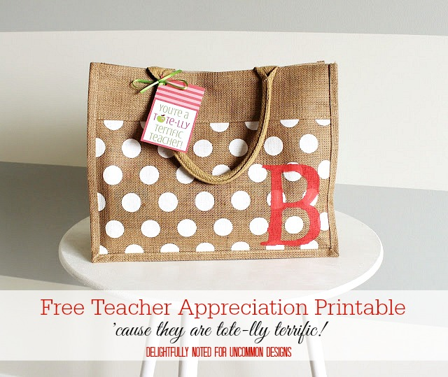 Teacher Appreciation Gift Printables via Uncommon Designs