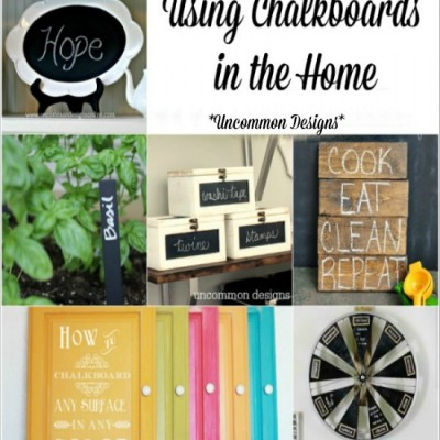 Beautiful Chalkboard Projects