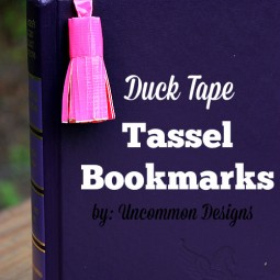 duck tape tassel bookmarks