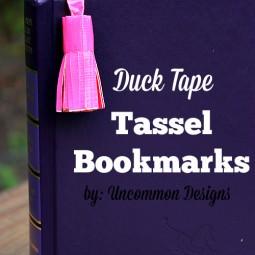 duck tape tassel bookmarks