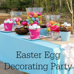 Celebrate Easter with an Easter Egg Decorating Party... Perfect for the Entire Family! www.uncommondesignsonline.com #Easter #EasterEggs #PartyIdeas