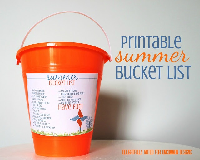 Free Printable Summer Bucket list! A fun #kidsactivity for #summer! #freeprintable #bucketlistideas