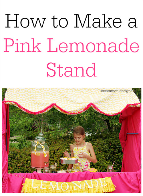 Make A Pink Lemonade Stand with a Fort Magic Fort Building Kit and a little imagination! www.uncommondesignsonline.com