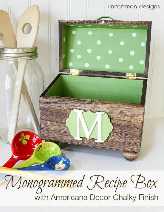 monogrammed-recipe-box-uncommondesigns-chalky-finish