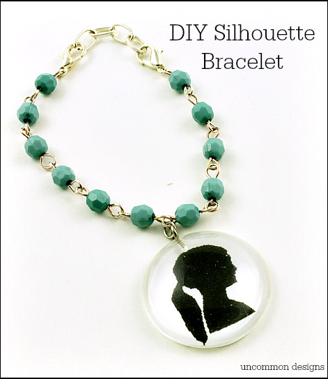 Make Your Own Silhouette Bracelet... a perfect gift for #Mother'sDay! via www.uncommondesignsonline.com
