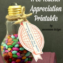 Free Teacher Appreciation Printable Tags Teachers Make the World a Brighter Place www.uncommondesignsonline.com #TeacherAppreciation #FreePrintables