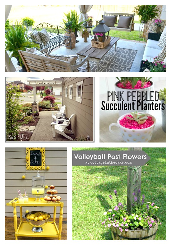 You will be inspired to head outdoors with these 10 Spring Inspired DIY projetcts! Go ahead and give them a try! via the Monday Funday link party at www.uncommondesignsonline.com
