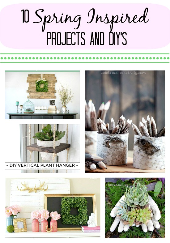 10 Ridiculously fabulous spring inspired DIY projects! Gorgeous! via the Monday Funday Link Party at www.uncommondesignsonline.com