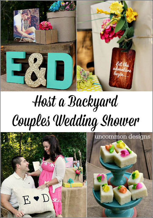 host a beautiful and fun backyard couples wedding shower wwwuncommondesignsonlinecom