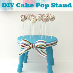 DIY Cake Pop Stand... Make your own stand in just a few simple steps! via www.uncommondesignsonline.com #parties #cakepops
