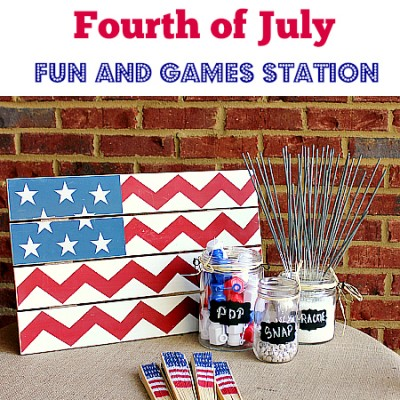 Fourth of July Fun and Games Station