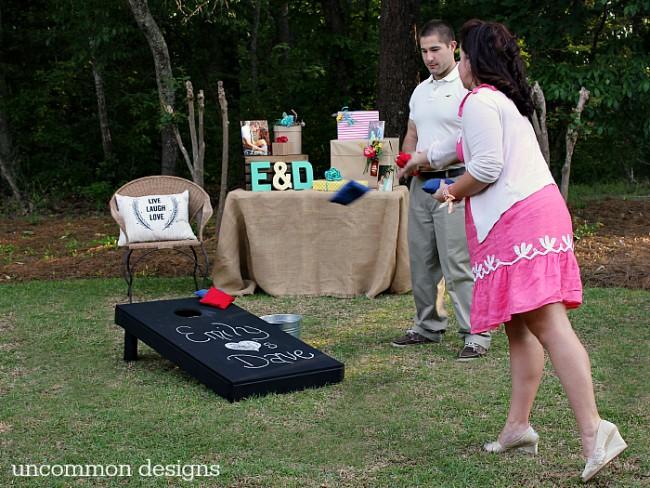 Host a beautiful and fun backyard couples wedding shower! www.uncommondesignsonline.com #Wedding #WeddingShower #ShutterflyWedding