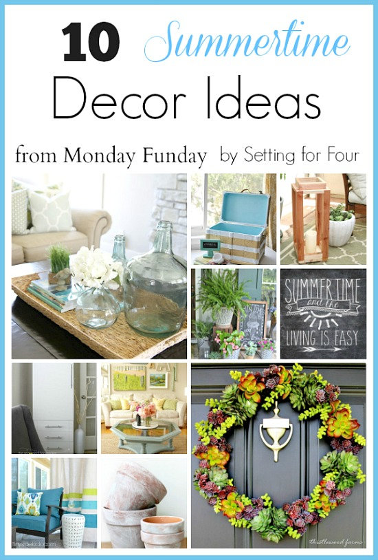 10 Summer Decor Ideas. Perfect to bring a bit of summer indoors in your home! #summer #homedecor