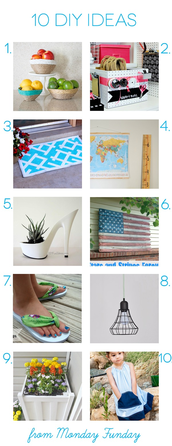 10 Amazing DIY Ideas for repurposing and recycling and home decor! Visit the Monday Funday for even more inspirations and ideas! #mondayfundayparty #linkparty #linkpartyfeatures