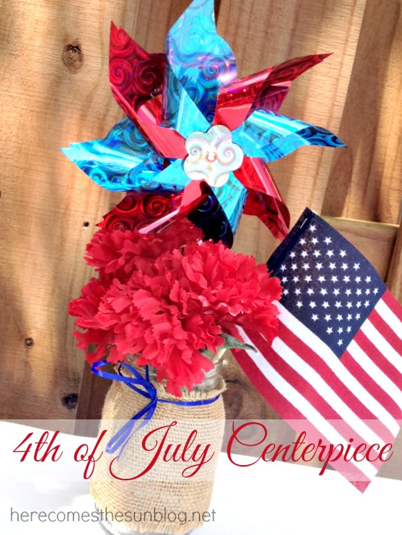 Fun and Festive 4th of July Centerpiece. Perfect for all of your Fourth of July entertaining! www.uncommondesignsonline.com