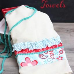 Make a Summer Inspired Flour Sack Towel www.uncommondesignsonline.com #OneCraftySummer