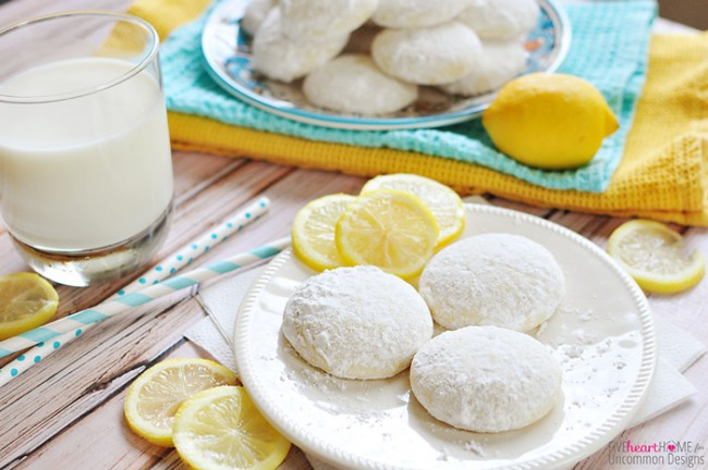 Tender, Buttery Lemon Cooler Cookies Recipe www.uncommondesignsonline.com