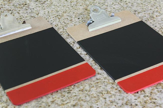 Colorblock Chalkboard Clipboards