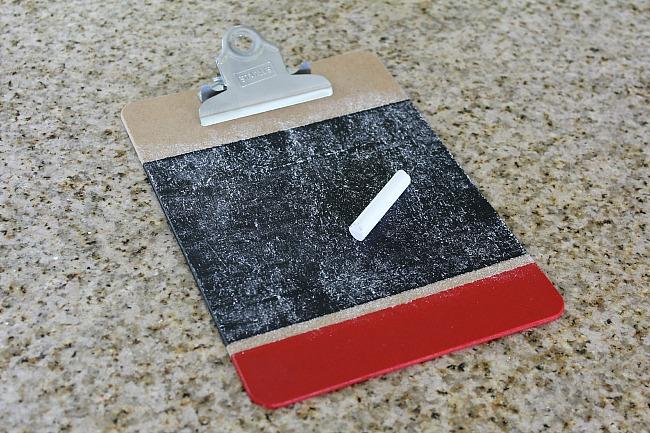 Seasoning Colorblock Chalkboard Clipboards