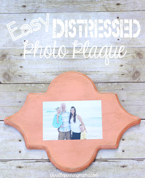 Easy Distressed Photo Frame