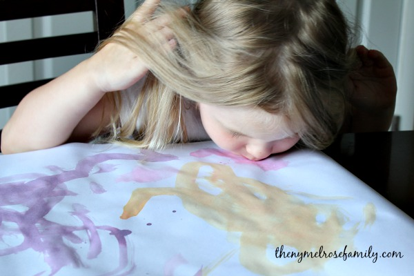 Scratch and Sniff Painting.  One Crafty Summer