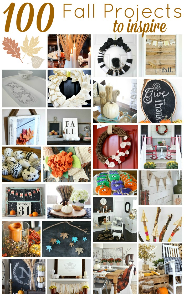 100 Fall Diy Projects And Crafts Fall Blog Hop