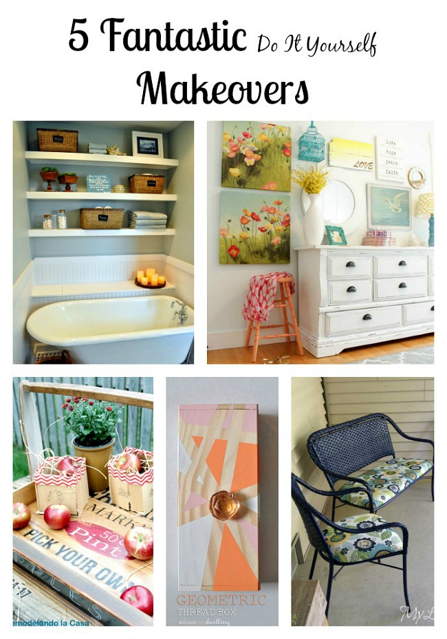 5 Fantastic DIY Makeovers from the Monday Funday link party.