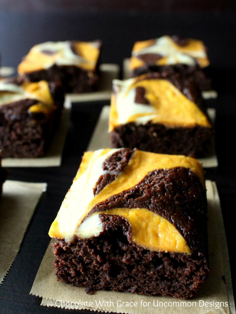 Pumpkin Swirl Brownies Recipe — Dishmaps