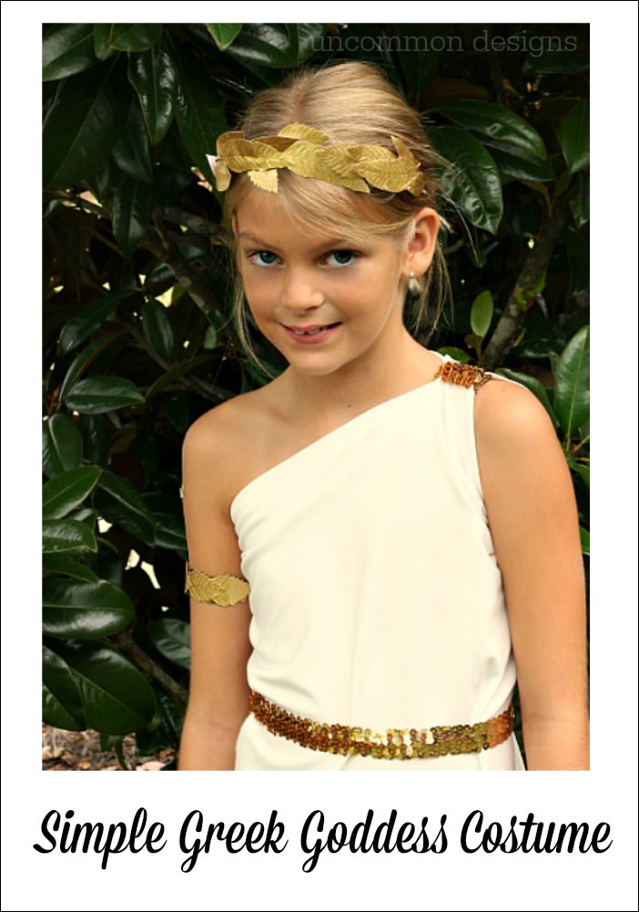 Easy Greek Goddess Costume - Uncommon Designs
