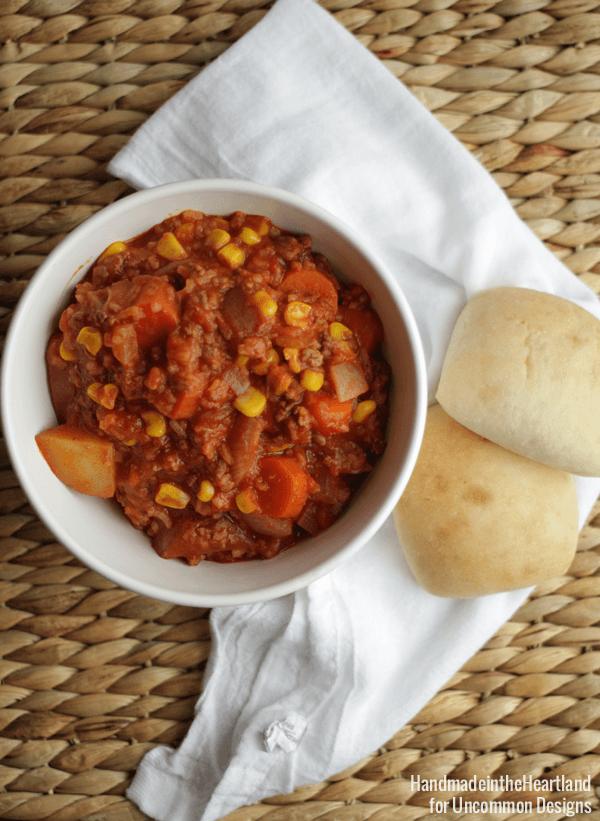 Easy Weeknight Dinner Recipe... Hamburger Stew!  Uncommon Designs