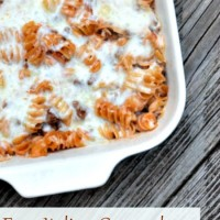Easy Italian Casserole Recipe. A simple recipe for those busy school nights! ~ Uncommon Designs