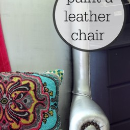Painting a Leather Chair… Yes I did!