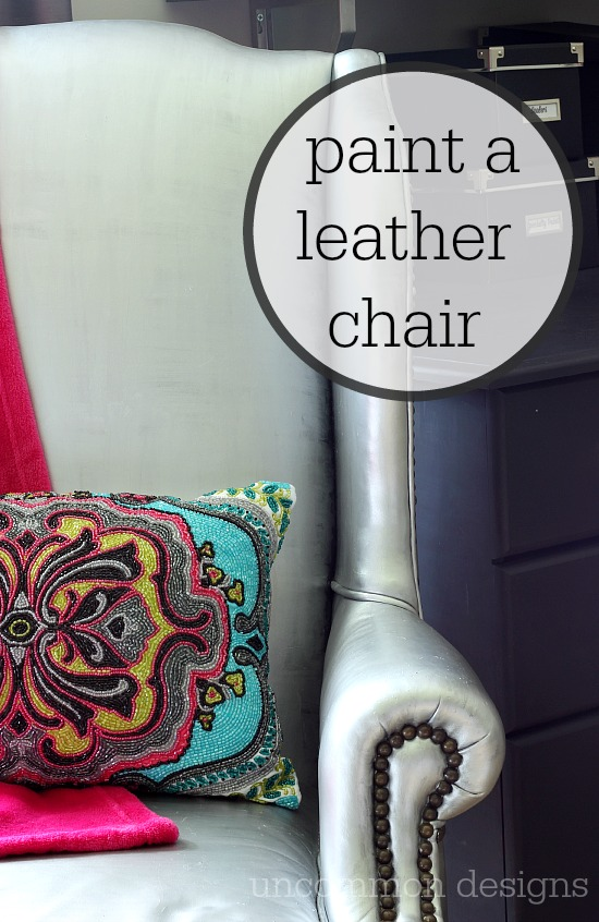 How To Paint Leather Furniture. How To Paint A Leather Chair With Few  Bottles Of