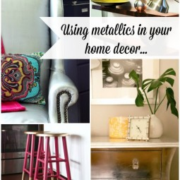 metallic home decor
