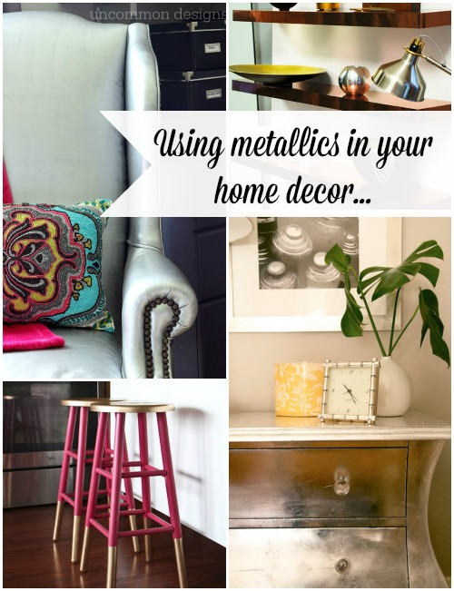 metallic home decor ideas uncommon designs