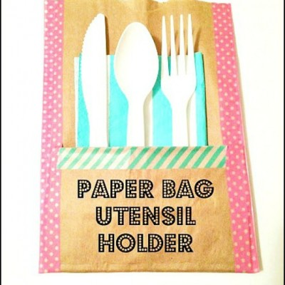 Paper Bag Utensil Holders