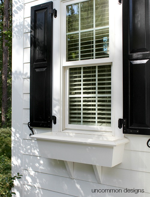 Fall window box spruce up with Mr. Clean Magic Eraser Handy Grip Outdoor Pro
