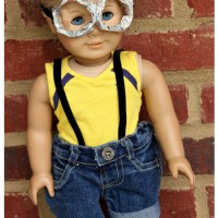 DIY Minion American Girl Halloween Costume via Uncommon Designs #doll crafts