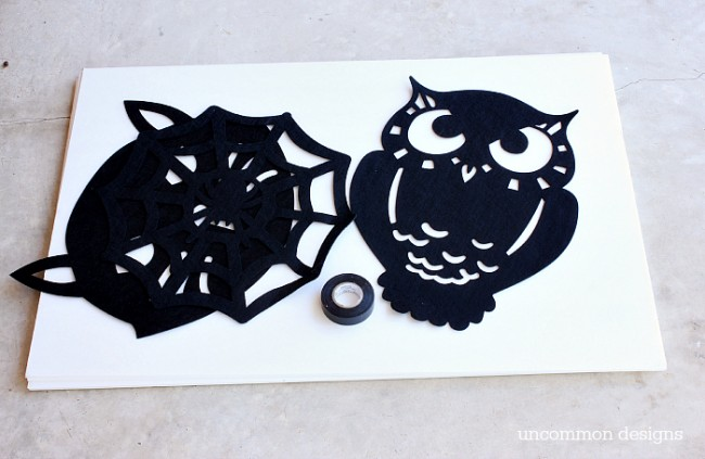 DIY Dollar Store Halloween Art by Uncommon Designs
